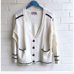 Folk by Hansel from Basel Piped Cable Cardigan